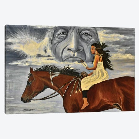 Eagle Feather Canvas Print #SZS110} by SueZan Stutts Canvas Wall Art