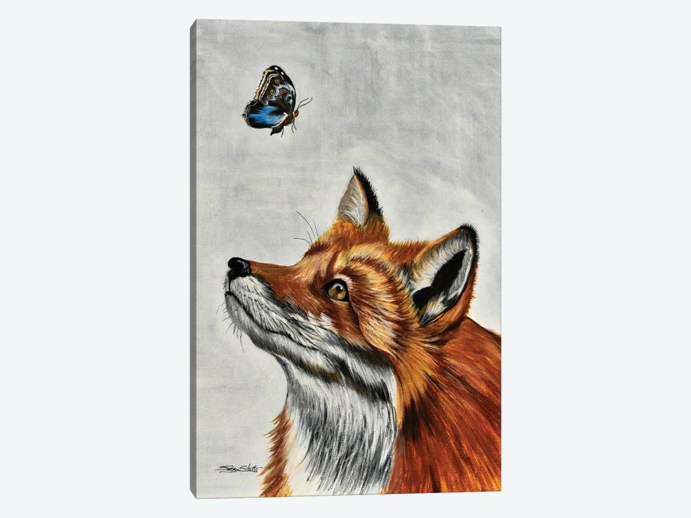 Fox With Butterfly by SueZan Stutts 1-piece Canvas Wall Art