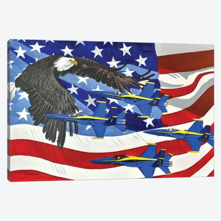 Patriot Canvas Print #SZS119} by SueZan Stutts Canvas Wall Art