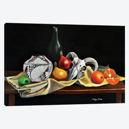 Still Life With Gourds Canvas Print #SZS121} by SueZan Stutts Canvas Print