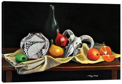 Still Life With Gourds Canvas Art Print