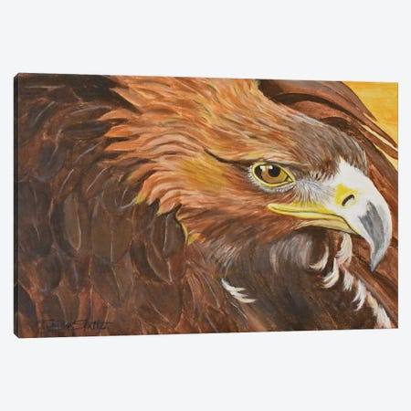 Golden Eagle I 3-Piece Canvas #SZS14} by SueZan Stutts Canvas Print
