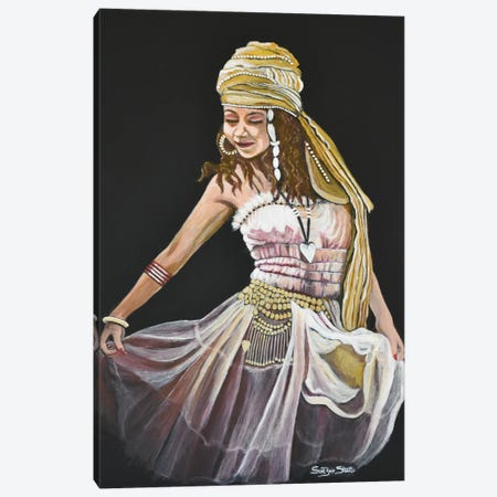 Gypsy Dancer Canvas Print #SZS15} by SueZan Stutts Art Print