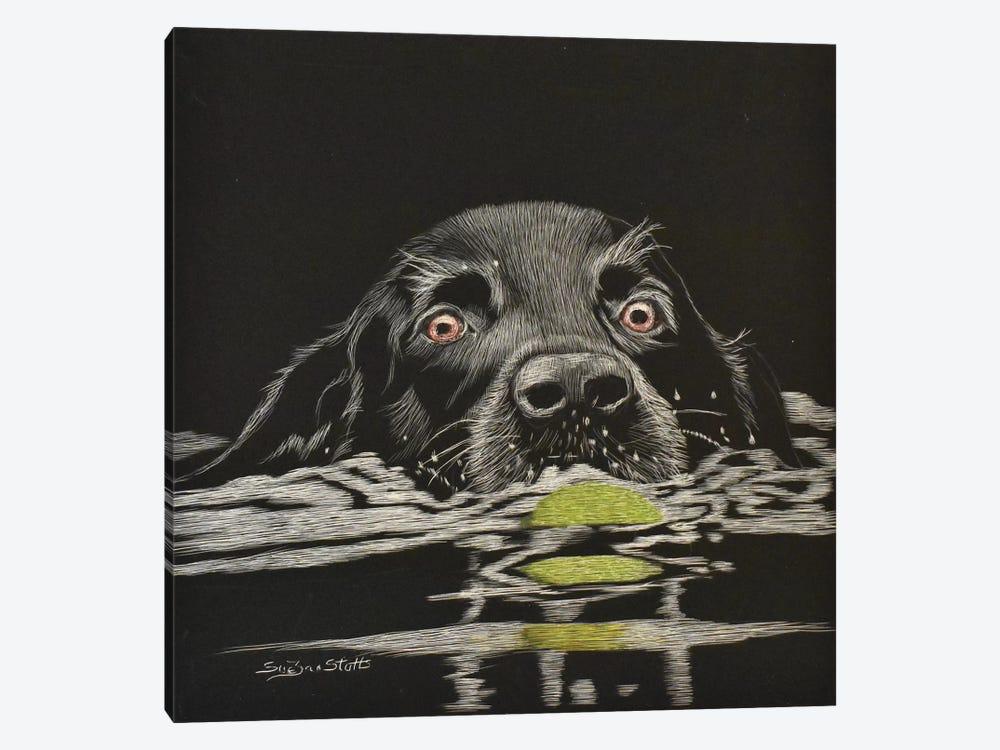 Next Time You Go Fetch by SueZan Stutts 1-piece Canvas Art