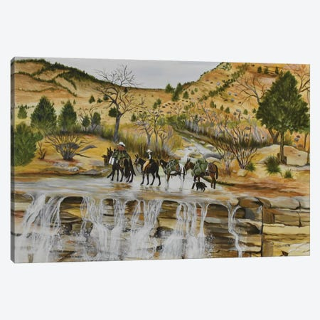 Packin Over Laverkin Falls Canvas Print #SZS29} by SueZan Stutts Canvas Print