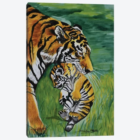 Parental Control Canvas Print #SZS31} by SueZan Stutts Canvas Wall Art