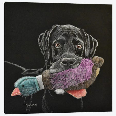 Retriever Wannabe Canvas Print #SZS37} by SueZan Stutts Canvas Print
