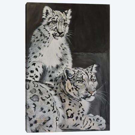 Snow Leopards Canvas Print #SZS38} by SueZan Stutts Canvas Artwork