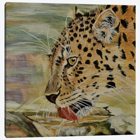 Amur Leopard Canvas Print #SZS3} by SueZan Stutts Canvas Art