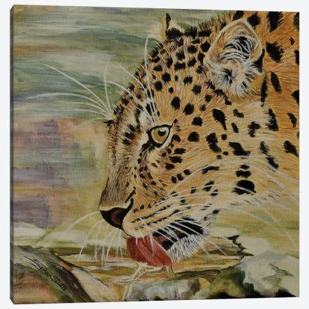 Amur Leopard Canvas Print #SZS3} by SueZan Stutts Canvas Art