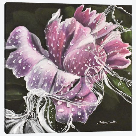 Spring Rain Canvas Print #SZS40} by SueZan Stutts Art Print