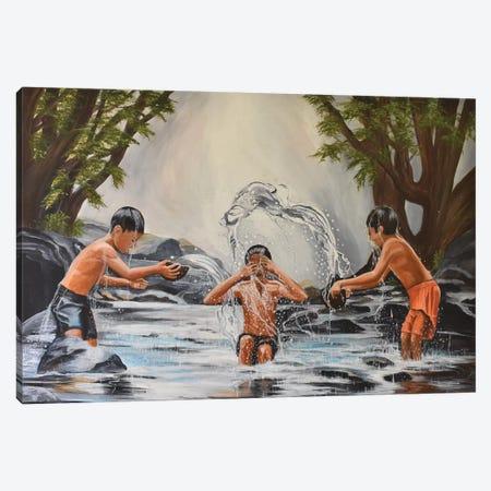Summer Fun Canvas Print #SZS41} by SueZan Stutts Art Print