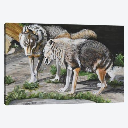 The Alpha Male Canvas Print #SZS45} by SueZan Stutts Canvas Artwork