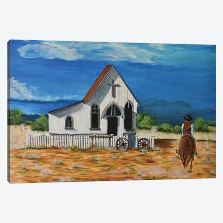 The Chapel Canvas Print #SZS49} by SueZan Stutts Art Print