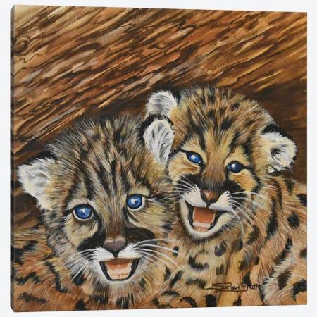 Well Hidden Cubs Canvas Print #SZS55} by SueZan Stutts Canvas Print