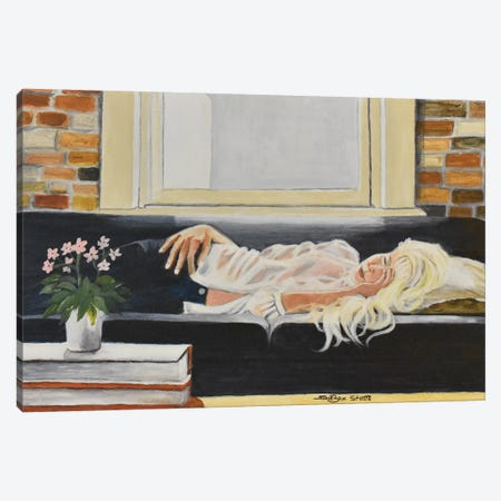 Bourbon Street Lady 3-Piece Canvas #SZS5} by SueZan Stutts Art Print