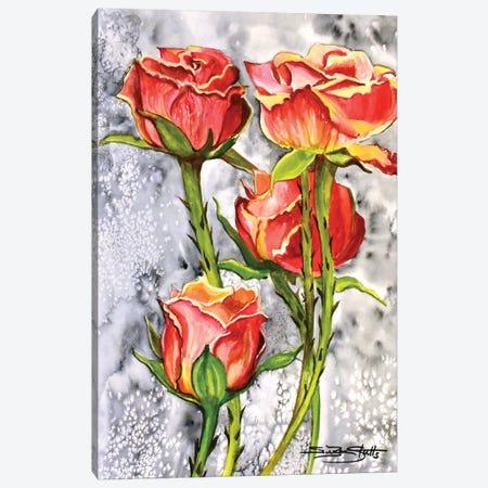 Roses Canvas Print #SZS77} by SueZan Stutts Art Print