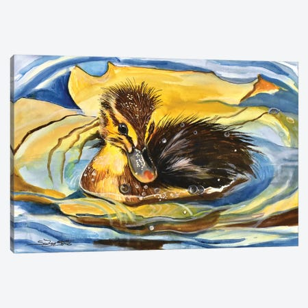 Water Baby Canvas Print #SZS80} by SueZan Stutts Art Print