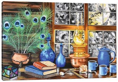 Blue Cups Canvas Art Print