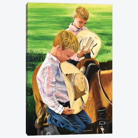 Not Their First Rodeo Canvas Print #SZS88} by SueZan Stutts Canvas Print