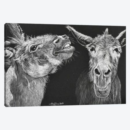 You Just Crack Me Up Jack Canvas Print #SZS95} by SueZan Stutts Art Print