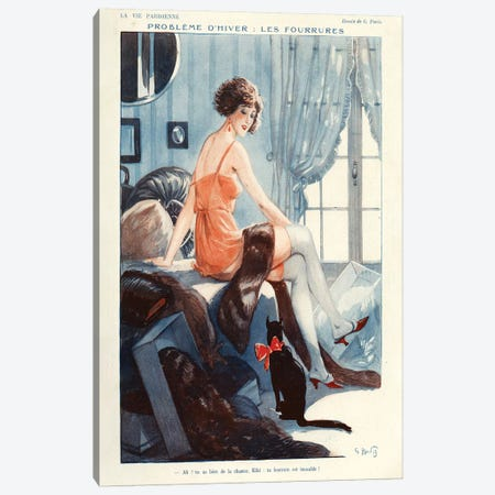 1924 La Vie Parisienne Magazine Plate Canvas Print #TAA101} by Georges Pavis Canvas Art