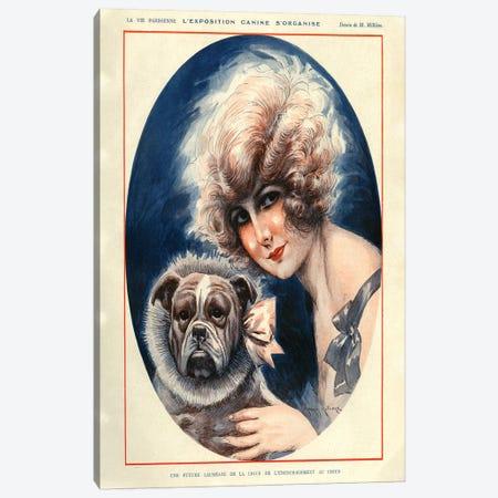 1924 La Vie Parisienne Magazine Plate Canvas Print #TAA103} by Maurice Milliere Canvas Wall Art