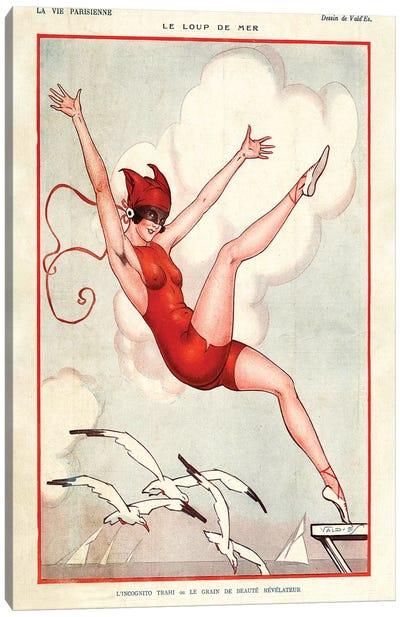 1924 La Vie Parisienne Magazine Plate Canvas Art Print