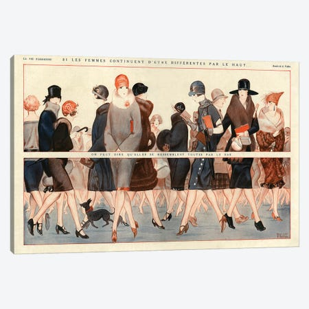 1924 La Vie Parisienne Magazine Plate Canvas Print #TAA106} by The Advertising Archives Canvas Print
