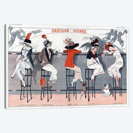 1912 La Vie Parisienne Magazine Plate Canvas Print #TAA10} by The Advertising Archives Canvas Art