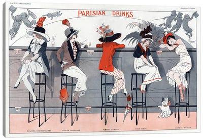 1912 La Vie Parisienne Magazine Plate Canvas Art Print