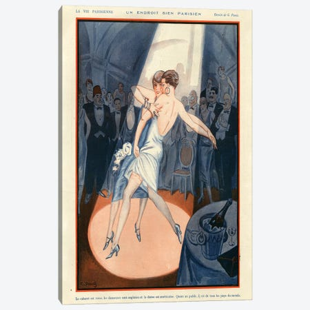 1925 La Vie Parisienne Magazine Plate Canvas Print #TAA115} by The Advertising Archives Canvas Artwork