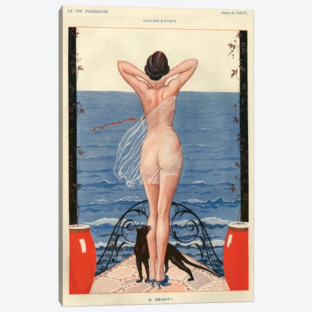 1925 La Vie Parisienne Magazine Plate Canvas Print #TAA120} by The Advertising Archives Canvas Wall Art