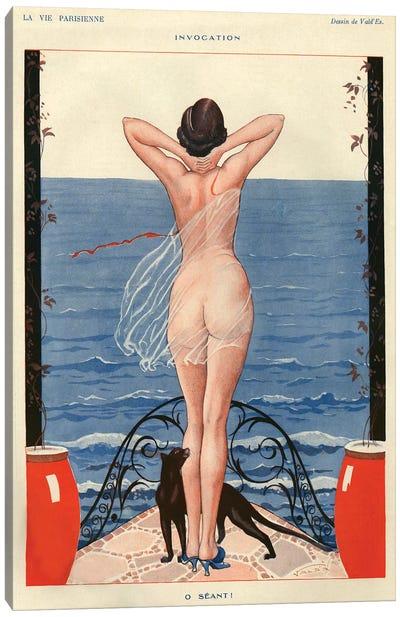1925 La Vie Parisienne Magazine Plate Canvas Art Print