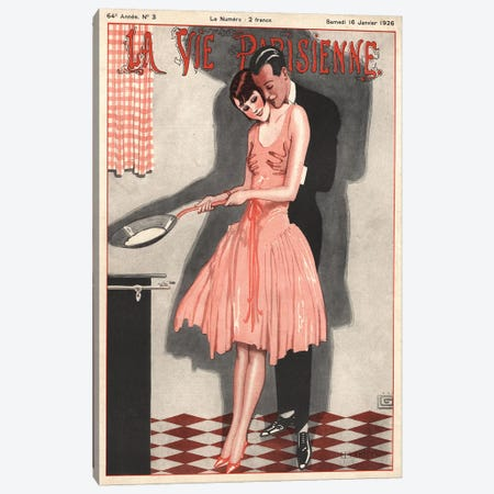 1926 La Vie Parisienne Magazine Cover Canvas Print #TAA122} by The Advertising Archives Canvas Artwork