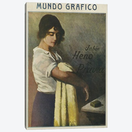 1916 Mundo Grafico Magazine Cover Canvas Print #TAA12} by The Advertising Archives Canvas Artwork