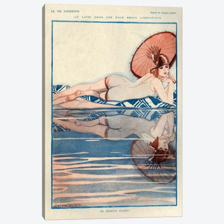 1927 La Vie Parisienne Magazine Plate Canvas Print #TAA136} by The Advertising Archives Canvas Artwork