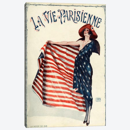 1918 La Vie Parisienne Magazine Cover Canvas Print #TAA13} by Georges Leonnec Canvas Wall Art