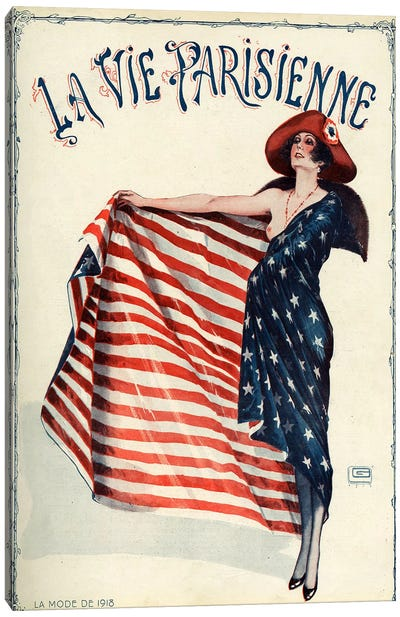 1918 La Vie Parisienne Magazine Cover Canvas Art Print