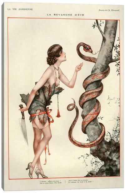1927 La Vie Parisienne Magazine Plate Canvas Art Print
