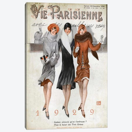 1928 La Vie Parisienne Magazine Cover Canvas Print #TAA145} by The Advertising Archives Canvas Print