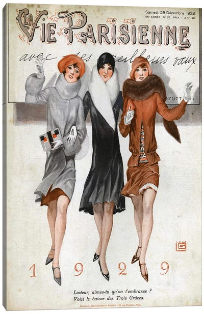 1928 La Vie Parisienne Magazine Cover Canvas Art Print