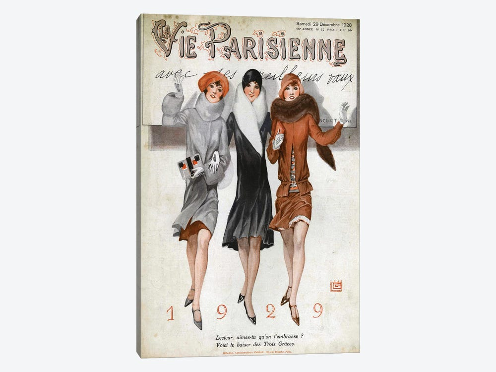 1928 La Vie Parisienne Magazine Cover by The Advertising Archives 1-piece Art Print