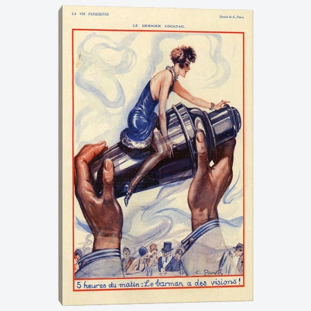 1928 La Vie Parisienne Magazine Plate Canvas Print #TAA148} by The Advertising Archives Canvas Wall Art