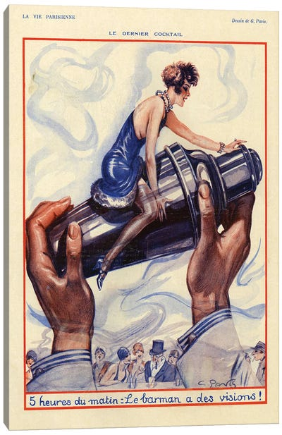 1928 La Vie Parisienne Magazine Plate Canvas Art Print