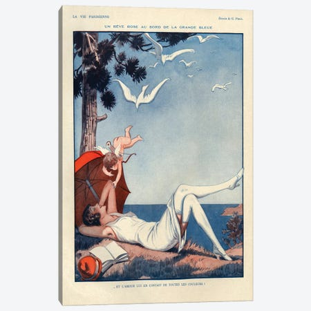 1928 La Vie Parisienne Magazine Plate Canvas Print #TAA149} by The Advertising Archives Canvas Wall Art