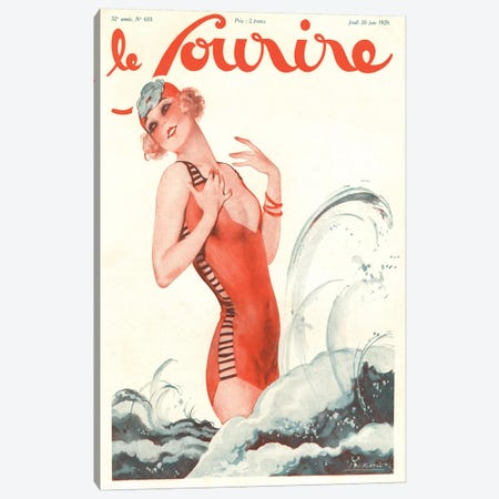 1928 Le Sourire Magazine Cover Canvas Print #TAA153} by The Advertising Archives Canvas Print