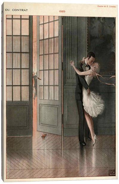 1929 La Vie Parisienne Magazine Plate Canvas Art Print