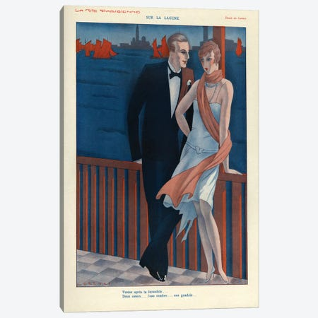 1929 La Vie Parisienne Magazine Plate Canvas Print #TAA157} by The Advertising Archives Canvas Art