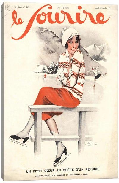 1930s Le Sourire Magazine Cover Canvas Art Print